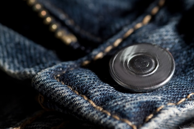 Jeans zipper and button Premium Photo