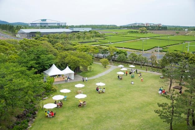 Jeju island, korea - october 12: the osulloc tea museum is the f Free Photo