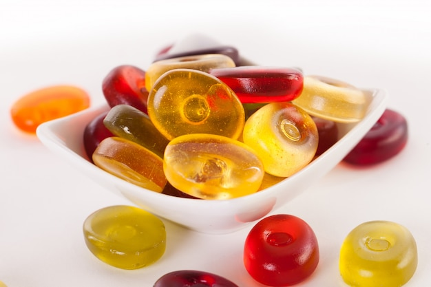 Jelly candies on a white Free Photo