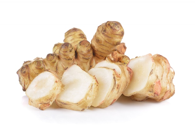 Premium Photo Jerusalem Artichoke On White Wall