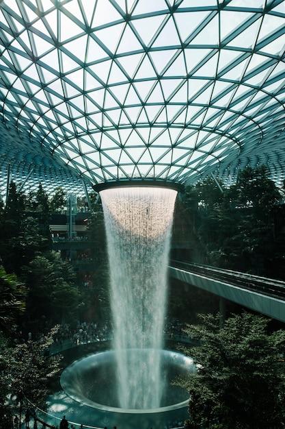 Jewel fountain in singapore Free Photo