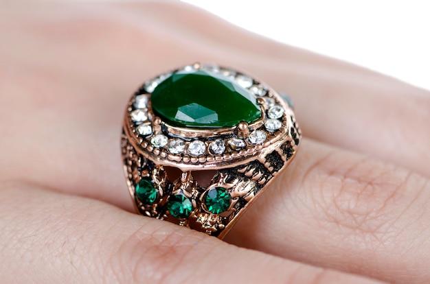 Jewellery ring worn on the finger Premium Photo