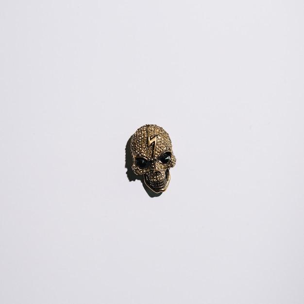 額に稲妻があるジュエリーの頭蓋骨 無料写真