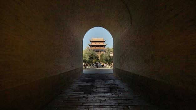 Jiayuguan fortress through the arch in china Free Photo