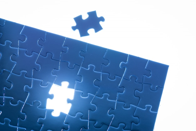 Jigsaw business success Premium Photo