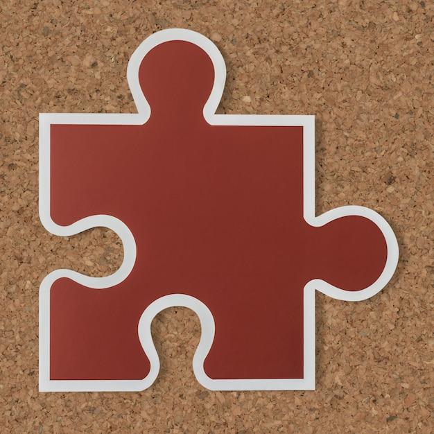 Jigsaw puzzle piece strategy icon Free Photo