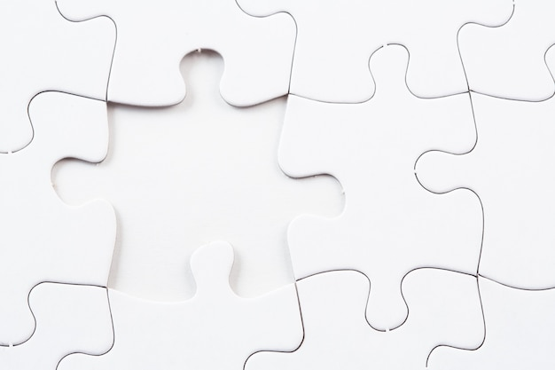 Jigsaw Puzzle With Missing Piece Premium Photo