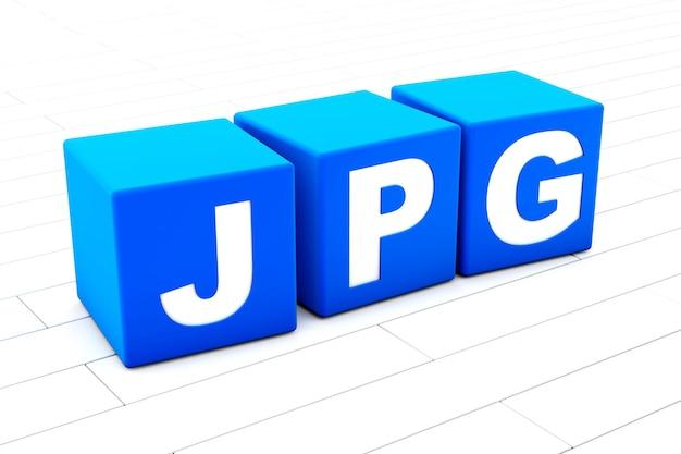 Jpg word illustration Premium Photo