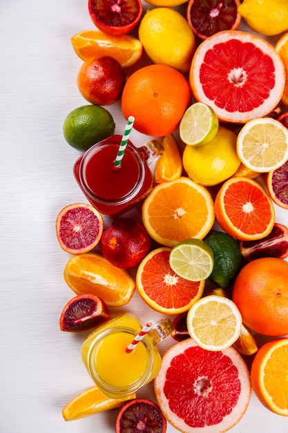 Juices fresh orange. summer refreshing drink. Premium Photo