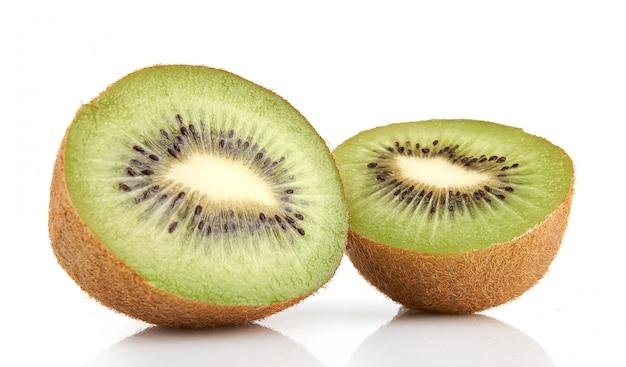 Juicy kiwi fruit isolated Premium Photo