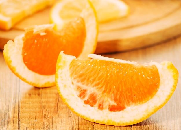 Juicy pieces of orange Free Photo