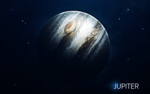 Jupiter - planets of the solar system in high quality. science wallpaper. Premium Photo