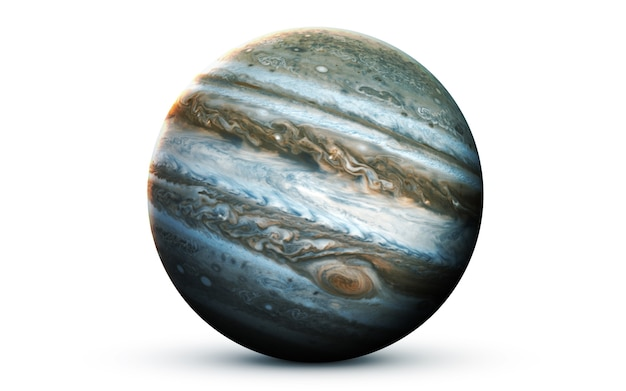 Jupiter in the space, 3d illustration. Premium Photo
