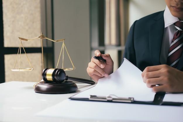Justice and law concept. Premium Photo