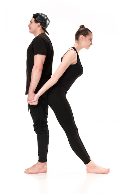 体操選手の体によって形成された文字k 無料写真