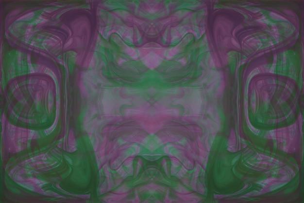 Kaleidoscope green and pink abstract seamless pattern Free Photo