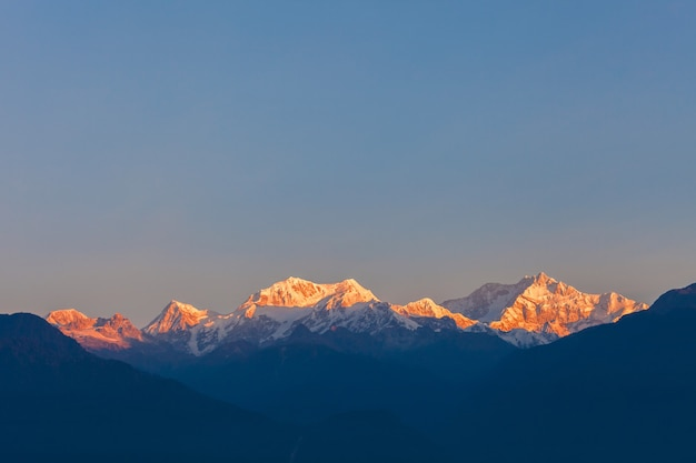 Kangchenjunga mountain view Premium Photo