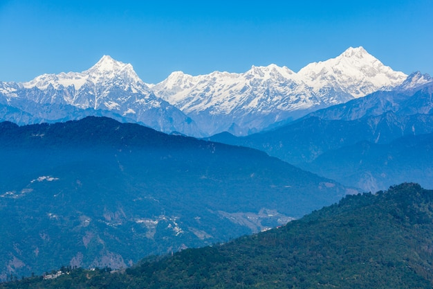 Kangchenjunga view, gangtok Premium Photo