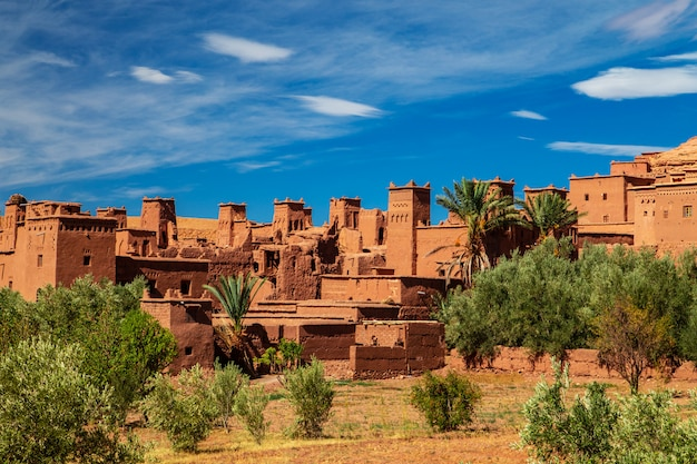 Kasbah ait ben haddou in the atlas mountains. Premium Photo