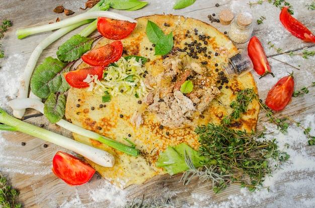Kebab or  gyros pita Premium Photo