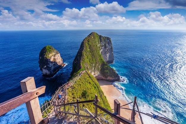 Пляж келингкинг на острове нуса пенида, бали, индонезия Бесплатные Фотографии