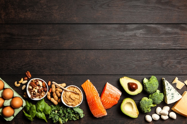 Keto diet food ingredients Premium Photo