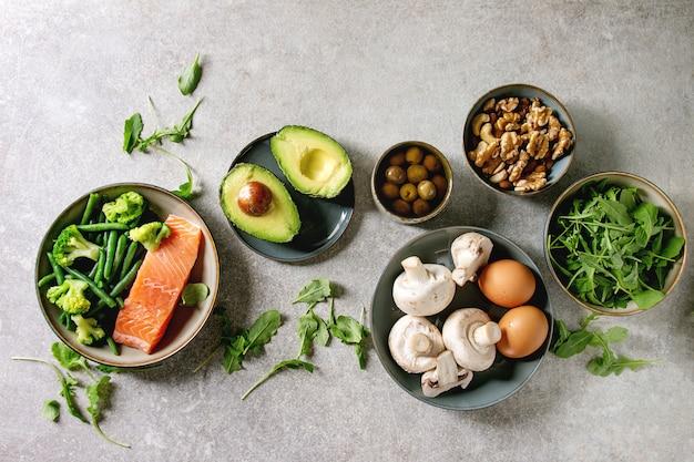 Ketogenic diet ingredients Premium Photo