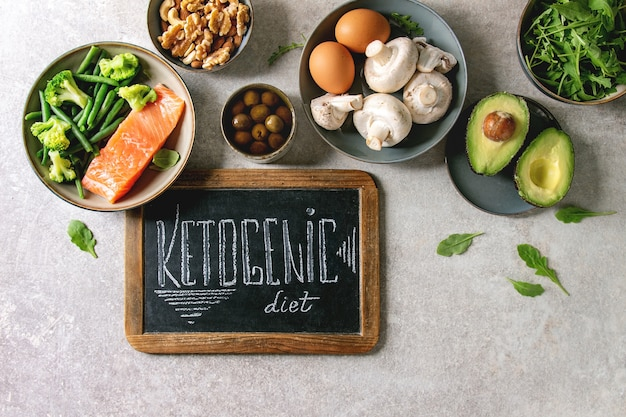 Ketogenic diet ingredients Premium Photo