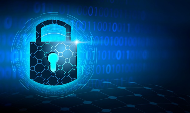 Key lock security system abstract technology world digital link cyber security