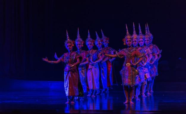 Khon is dance drama of thai classical masked Premium Photo