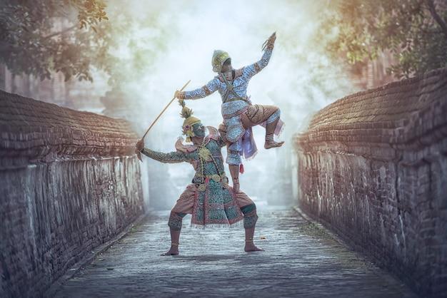 Khon is traditional dance drama Premium Photo