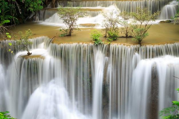 Khuean srinagarindra国立公園のhuay mae kamin滝 Premium写真