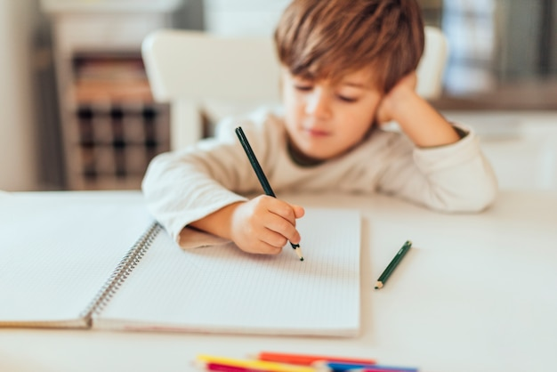 Free Photo | Kid doing homework