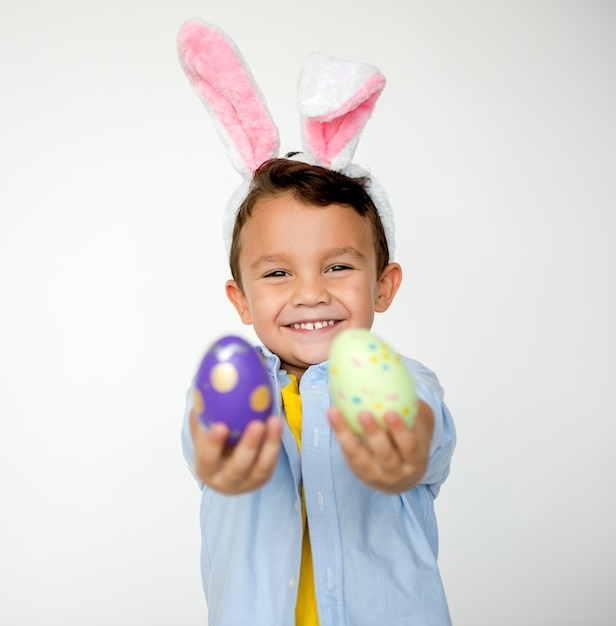 Kid easter celebration studio concept Free Photo