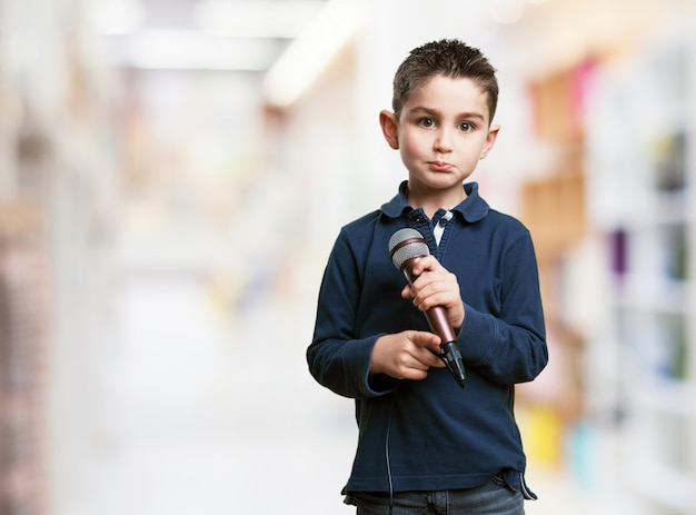 Image result for child with microphone