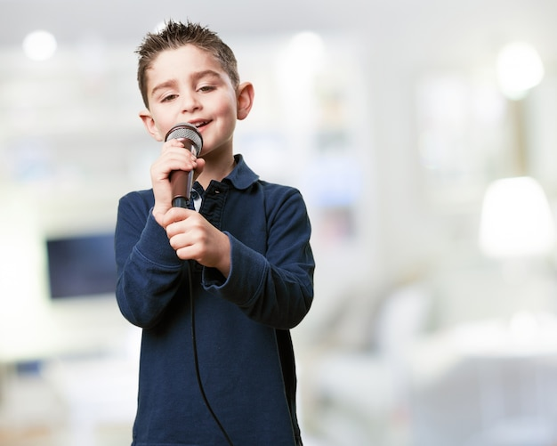 Kid With A Microphone Photo