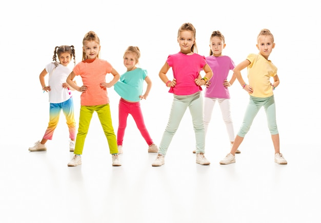 The kids dance school, ballet, hiphop, street, funky and modern dancers Free Photo