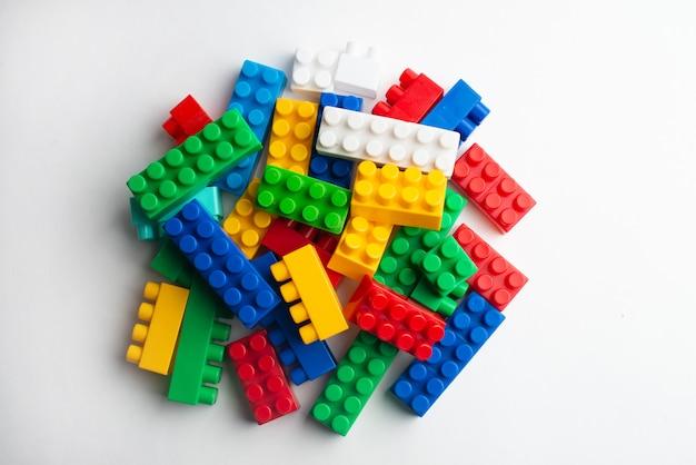Kids development, building blocks, building construction and lorry Premium Photo