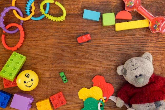 Kids toys background Premium Photo