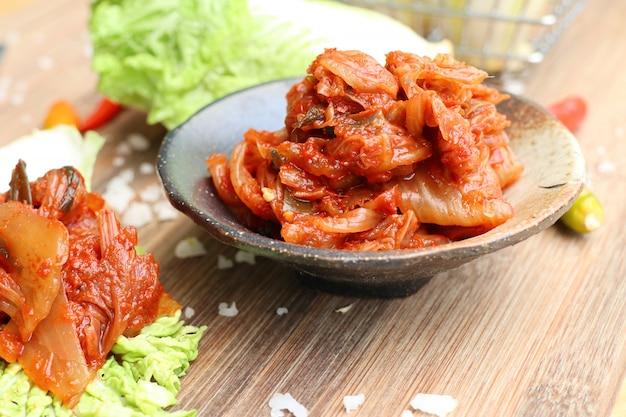 Kimchi cabbage - korean food Premium Photo