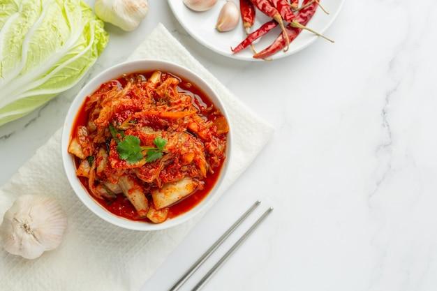 Kimchi ready to eat in bowl Free Photo