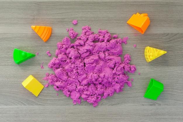 Кинетический песок для детей Premium Фотографии