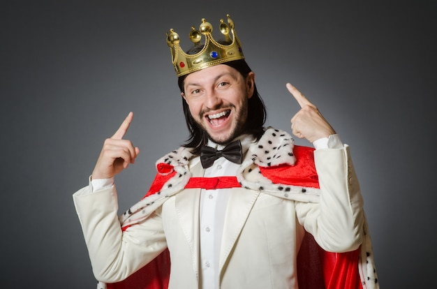King businessman in royal business concept Premium Photo