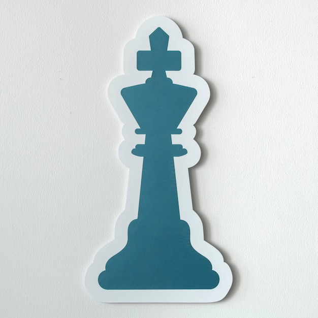 The king chess icon isolated Free Photo
