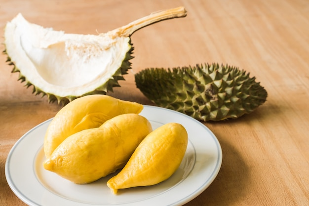 King of fruits, durian is a popular tropical fruit in asian countries. Premium Photo
