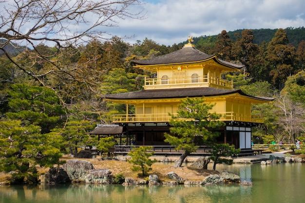 Kinkaku-ji temple, the golden pavilion, a zen buddhist