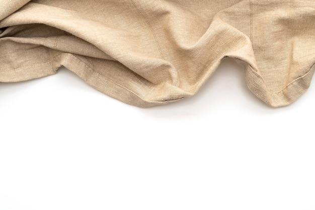 Кухонная ткань (салфетка), изолированные на белом Premium Фотографии