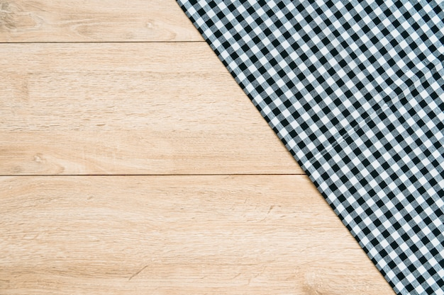 Kitchen cloth on wood table Free Photo