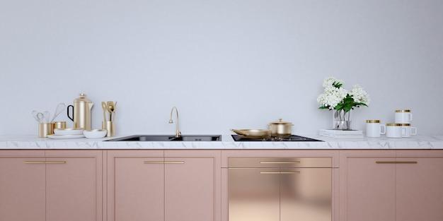 Интерьер кухни Premium Фотографии