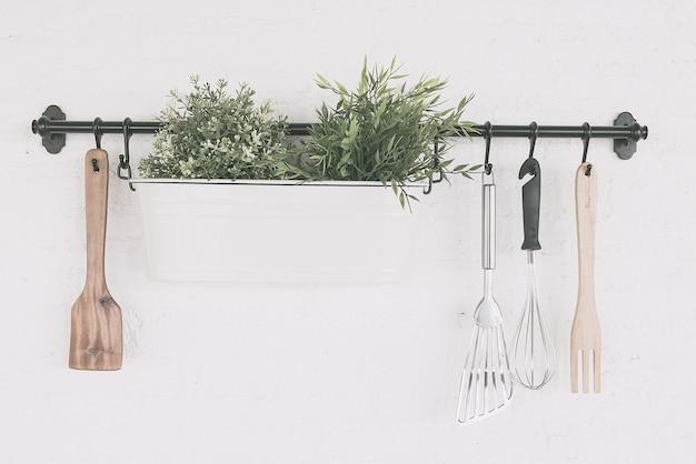 Kitchen object set on wall Free Photo
